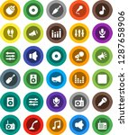white solid icon set  music...   Shutterstock .eps vector #1287658906