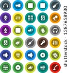 white solid icon set  disk...   Shutterstock .eps vector #1287658930