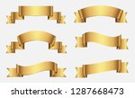 ribbon banner set.gold ribbons. | Shutterstock .eps vector #1287668473