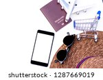 mock up trip accessories ... | Shutterstock . vector #1287669019