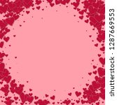 red heart love confettis.... | Shutterstock .eps vector #1287669553