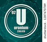 uranium chemical element. sign... | Shutterstock .eps vector #1287670789