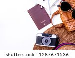 mock up trip accessories ... | Shutterstock . vector #1287671536