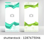 green turquoise triangle... | Shutterstock .eps vector #1287675046