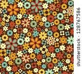 Stock vector vector seamless flower pattern background 128767586