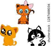 set of cats vector pets | Shutterstock .eps vector #1287688036