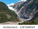 franz josef glacier as seen... | Shutterstock . vector #1287688069