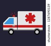 emergency ambulance. medical... | Shutterstock .eps vector #1287690139