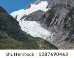 franz josef glacier in westland ... | Shutterstock . vector #1287690463