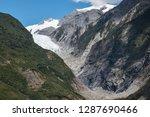 franz josef glacier in westland ... | Shutterstock . vector #1287690466