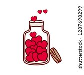 jar with hearts isolated icon | Shutterstock .eps vector #1287698299