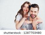 adult loving couple gentle... | Shutterstock . vector #1287703480