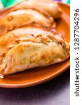 homemade large empanadas with... | Shutterstock . vector #1287704296