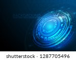 vector circle technology design ... | Shutterstock .eps vector #1287705496