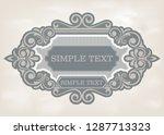 label design template in... | Shutterstock .eps vector #1287713323