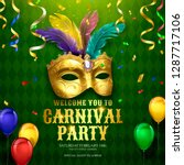 carnival party design with... | Shutterstock .eps vector #1287717106