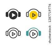 play through headphones   Shutterstock .eps vector #1287719776