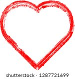 set of hearts . grunge stamps... | Shutterstock .eps vector #1287721699