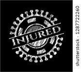 injured chalk emblem | Shutterstock .eps vector #1287722260