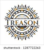 treason arabesque style emblem. ... | Shutterstock .eps vector #1287722263
