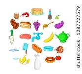 culinary icons set. cartoon set ... | Shutterstock .eps vector #1287727579