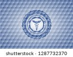 caduceus medical icon inside... | Shutterstock .eps vector #1287732370