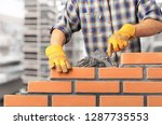 bricklayer cement masonry build ... | Shutterstock . vector #1287735553