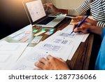 creative web designer planning... | Shutterstock . vector #1287736066