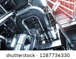 equipment  cables and piping as ... | Shutterstock . vector #1287736330