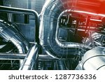 equipment  cables and piping as ... | Shutterstock . vector #1287736336