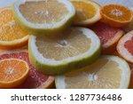 colorful fresh citrus fruit... | Shutterstock . vector #1287736486