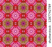 red  pink and brown vector... | Shutterstock .eps vector #1287742789