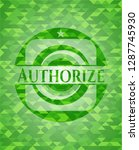 authorize green emblem with... | Shutterstock .eps vector #1287745930