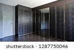 built in black closet | Shutterstock . vector #1287750046