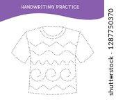 handwriting practice sheet.... | Shutterstock .eps vector #1287750370