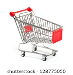 shopping cart with shadow...   Shutterstock . vector #128775050