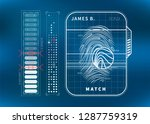 modern fingerprint scan with...