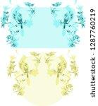 chinoiserie  style. vector... | Shutterstock .eps vector #1287760219