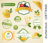 vector illustration of organic... | Shutterstock .eps vector #128776460