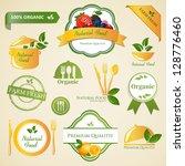 vector illustration of organic... | Shutterstock .eps vector #128776460