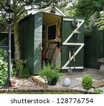 English Back Garden Shed And...