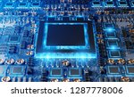 close up view of a modern gpu... | Shutterstock . vector #1287778006