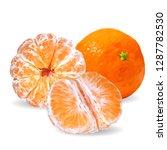 tangerines low poly. fresh ... | Shutterstock . vector #1287782530