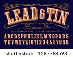 an antique or old west style... | Shutterstock .eps vector #1287788593