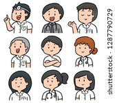 vector set of medical staff | Shutterstock .eps vector #1287790729