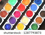 colorful watercolor paints  ... | Shutterstock . vector #1287793873
