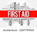first aid word cloud collage ... | Shutterstock .eps vector #1287799033