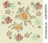 seamless vector pattern with... | Shutterstock .eps vector #128780594