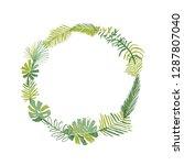 tropical flower composition ... | Shutterstock . vector #1287807040