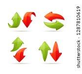 set of cartoon arrow icons.